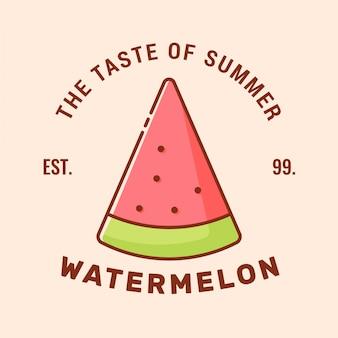 Logo z plakietką watermelon