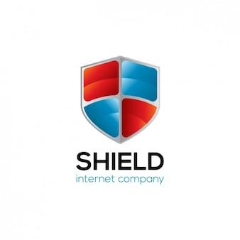 Logo z tarczą