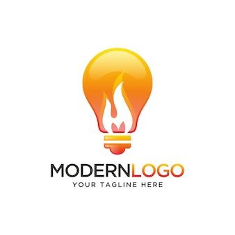 Logo żarówki ogniowej, logo max idea.