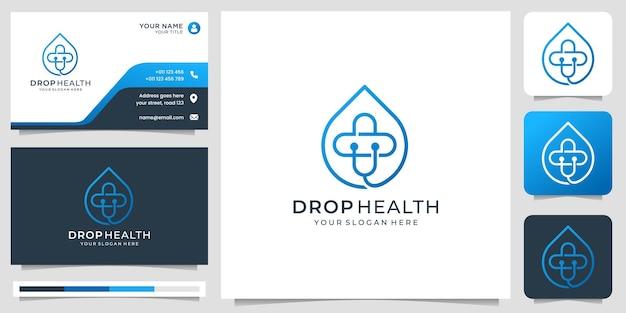 Logo zdrowia medycznego minimalist plus