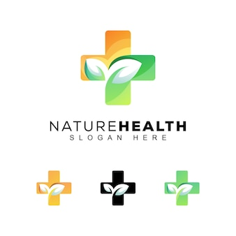 Logo zdrowia natura nowoczesny kolor