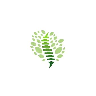 Logo zdrowia ortopedii kręgosłupa kręgosłupa