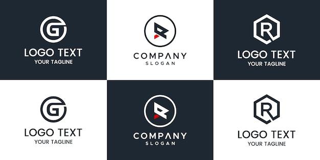 Logo zestaw monogramów