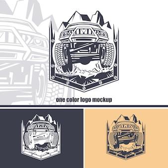 Logo zestaw samochodów terenowych
