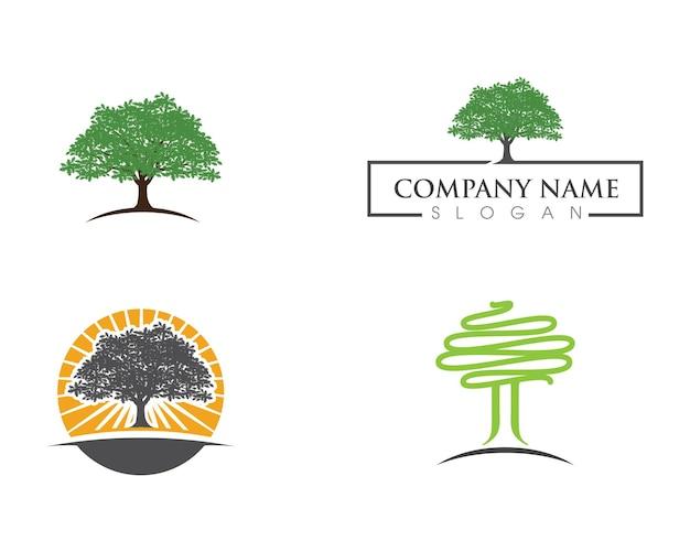 Logo zielonego drzewa liść ekologia natura element wektor ikona