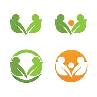 Logo zielonego drzewa liść ekologia natura element wektora
