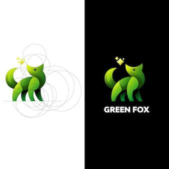 Logo zielonego lisa