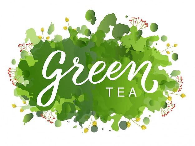 Logo zielonej herbaty
