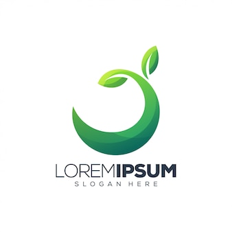 Logo zielony liść