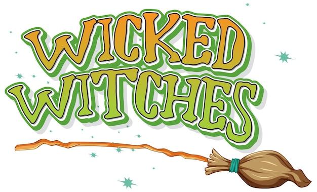 Logo złych czarownic na białym tle