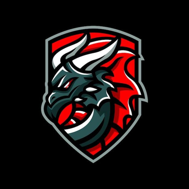 Logo znaczek smoka