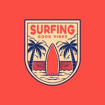 Logo znaczka surfowania