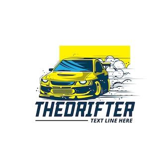 Logo żółtego samochodu