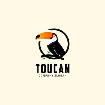 Logo zwierzęcego tukana