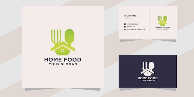 Logo żywności domowej i szablon wizytówki