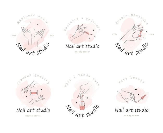 Logotyp dla studia zdobienia paznokci.