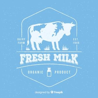 Logotyp ekologicznego mleka