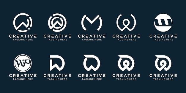 Logotyp inicjały w logo ikona scenografia dla biznesu mody sport finanse automotive