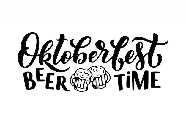 Logotyp oktoberfest. napis na festiwalu piwa