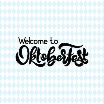 Logotyp oktoberfest. transparent festiwalu piwa. ilustracja wektorowa projektu festiwalu bawarii. typografia napisów do logo, plakatu, karty, pocztówki, koszulki.