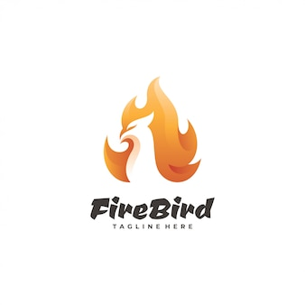 Logotyp ptaka ognia