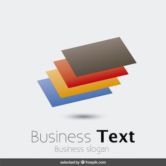 Logotyp z kolorowych prostokątów