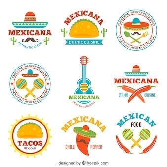 Logotypy smaczne meksykańskie jedzenie