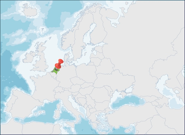 Lokalizacja holandii na mapie europy