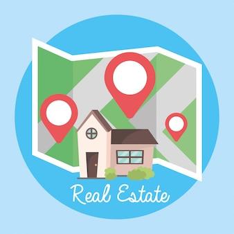 Lokalizacja i mapa do lokalizacji nieruchomości domów