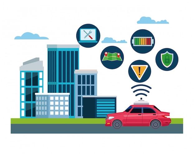 Lokalizacja serwisu samochodów taxi
