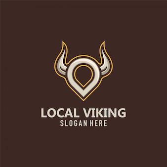 Lokalne logo wikingów wektor