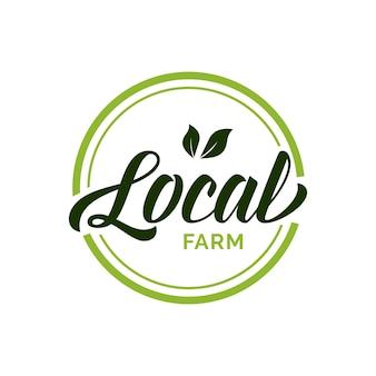 Lokalne napisy rolnicze w zielonym kole