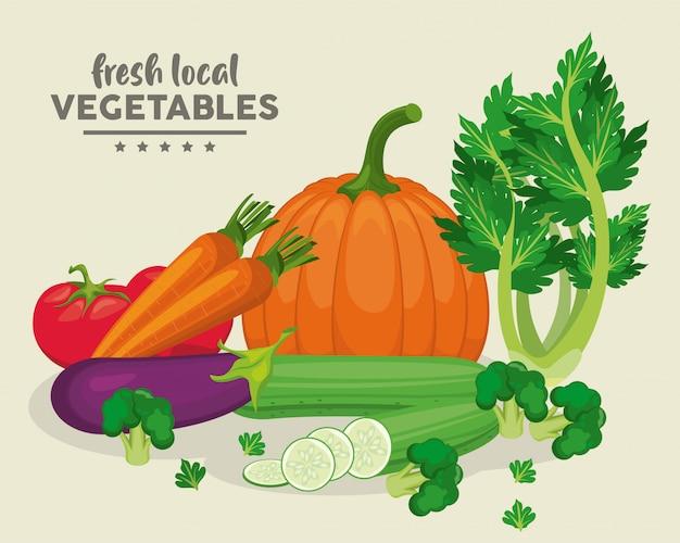 Lokalne świeże warzywa
