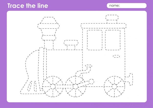 Lokomotywa - arkusz dla dzieci w wieku przedszkolnym