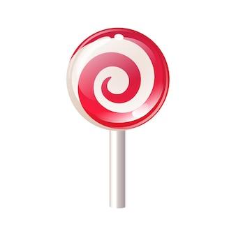 Lollipop cukierek odizolowywający na białym tle.
