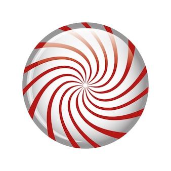 Lollipop cukierki słodki izolowany ikona wektorowe ilustracja projektowe
