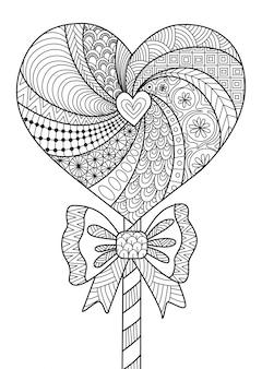 Lollipop serca wyciągnięte ręcznie