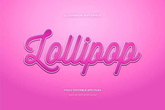 Lollipop z efektem tekstowym