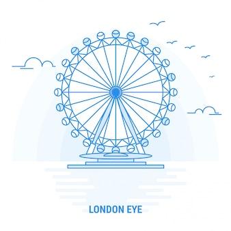 London eye blue landmark
