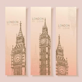 Londyn bannery kolekcji