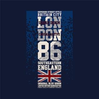 Londyn brytania miasto południowo-wschodni projekt graficzny wektor typografia t shirt
