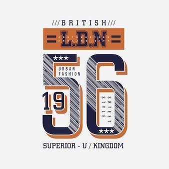 Londyn, brytyjskie miasto typografia wektor ilustracja do druku t shirt