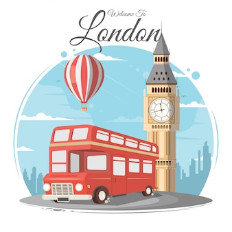 Londyn i big ben, anglia, landmark, podróże