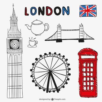 Londyn i zabytków obiektów