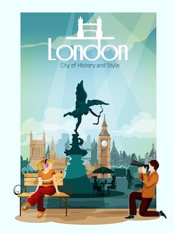 Londyn plakat ilustracji