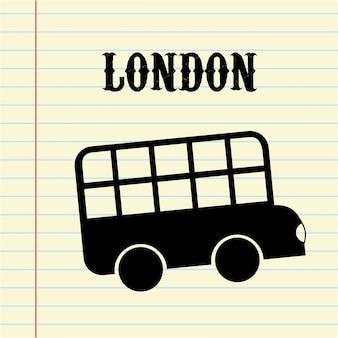 Londyn projekt na białym tle ilustracji wektorowych