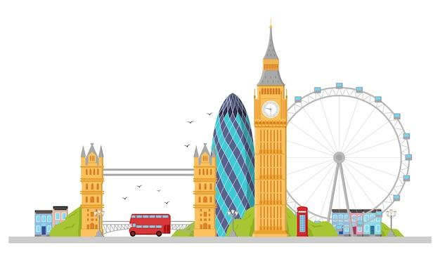 Londyn szczegółowy skyline.