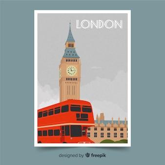 Londyński tło z big ben