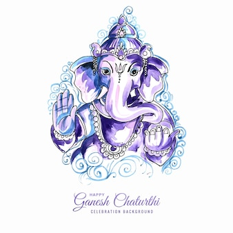 Lord ganesha festiwal projektu karty ganeśćaturthi