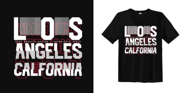 Los angeles california w stylu usterki do druku